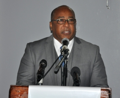 Barbados' Minister of Agriculture, Food, Fisheries and Water Resource Management, Dr. David Estwick